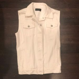 Vince | White Denim Vest